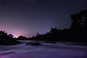 Star sky with river