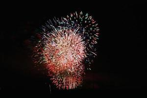 cielo nocturno de fuegos artificiales 36