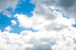 blue sky with clouds closeup