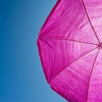 beach umrella with blue sky