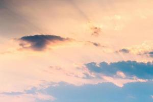 colorful dramatic sky with cloud at sunset photo