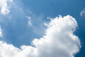 ciel bleu et nuages blancs