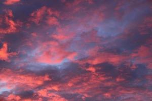 Beautiful sunrise sky with clouds.