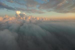 Sunset in the sky with clouds