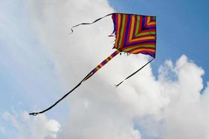 kite's colors in the cloud sky