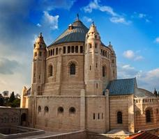 Dormition Abbey on the blue sky background