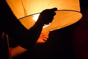 Sky lanterns, Flying Loy kratong festival of Thailand