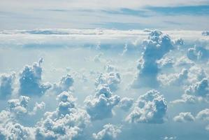 many cloud in blue sky photo