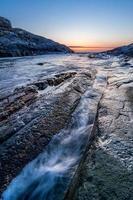 North sea, Sotra island, Bergen county, Norway.