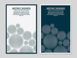 Blue and white circle style abstract modern banner vector
