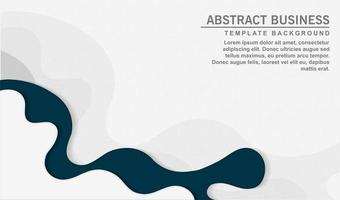 Modern curvy wave design in blue and white vector