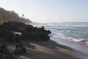 Blue sky, blue sea and sand beach.