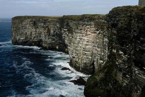 Granite cliffs in Orkney