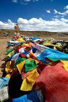 Tibetan buddhist prayer flags photo