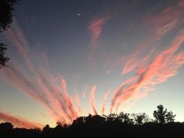 cielo de la tarde con luna foto