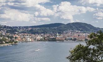 Como: city panorama from the lake