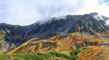 The Tateyama Kurobe Alpine route of autumn photo