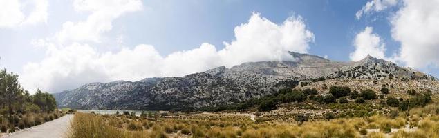 Summer landscape panorama (Serra de Tramuntana, Mallorca island,