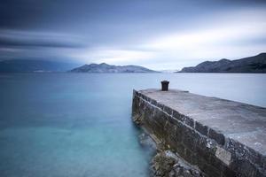 Harbor in mediterranean sea photo