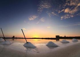 Evening in salt mines photo