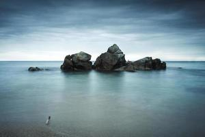 Boulders seascape photo