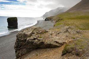 Rocky coastline in Hvalnes area - Iceland