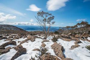Mount Wellington in winter season, Hobart, Australia. photo