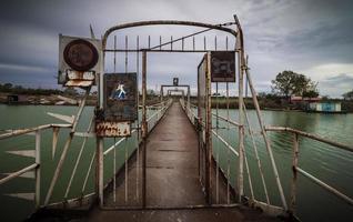 Old metal footbridge photo