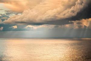Soft, Warm Cloud and Seascape photo