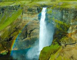 Haifoss - Waterfall in Iceland photo