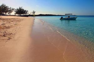 Remote Bahamas Beach in the Caribbean photo