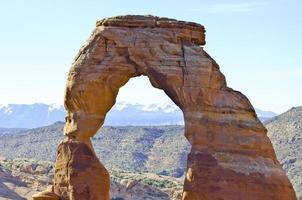 Rainbow Arch, Arches National Park, Utah photo