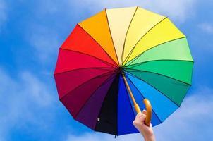 Rainbow umbrella's background photo