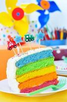 Birthday rainbow cake photo