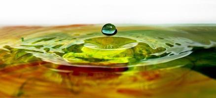 gota de agua arcoiris ondulación