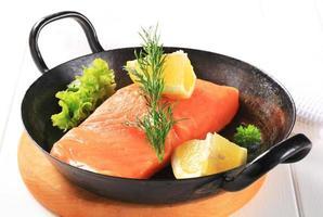 Fresh salmon fillet photo