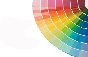 Guía de colores para la selección aislado sobre fondo blanco. foto
