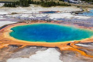 Grand Prismatic Spring in Yellowstone National Park, USA photo