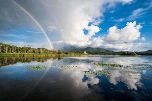 Killarney rainbow reflection photo