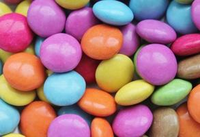 Colorful sugar-coated chocolate smarties