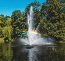 Fountain in Riga Canal photo