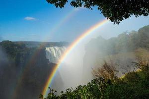 Victoria Falls con un raibow foto