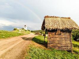 Shelter by the old monastery in Moldova