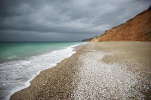 playa de arena foto