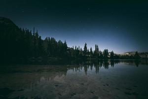 Night sky in the Sierra Nevada Mountains photo