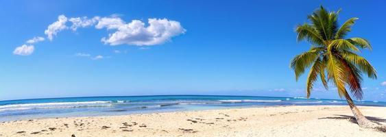 Sand beach panorama photo