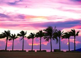 colorful sunset in the sea shore