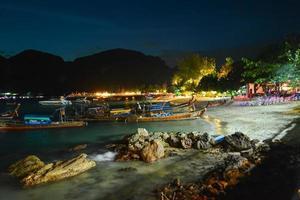Night beach of Thai