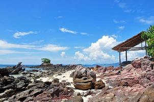 Beautiful beach with hut