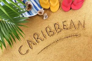 Caribbean beach background photo